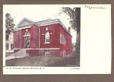 VINTAGE POSTCARD CARNEGIE LIBRARY FREEHOLD NEW JERSEY