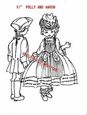 "1700""S 11 ""GIRL &""BOY COLTH DOLL PATTERN WITH CLOTHES"