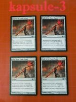 4x Staff of the Flame Magus | M14 Magic 2014 | MTG Magic Cards