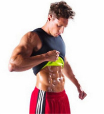 Sauna Suit Tank Top for Men Workout Vest Gym Shirt Shaper Neoprene Help Sweat