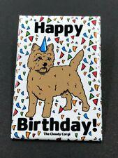 Cairn Terrier Happy Birthday Magnet Handmade Dog Gifts Refrigerator Decor