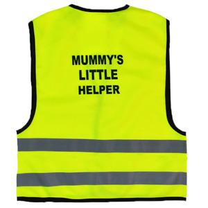 Mummy's Little Helper Kids,Childs Hi-Vis Safety Vest Jacket High Visibility Viz