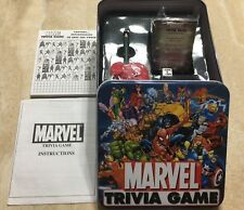 Marvel Trivia Game Avenger 2001 Collector Collectable Tin Box Complete