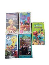 80s Lot 5 Sesame Street VHS Tape Elmo Big Bird 25th musical celebration Count it