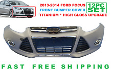 2012 2013 2014  FORD FOCUS FRONT BUMPER COVER COMPLETE TITANIUM HIGH GLOSS SET