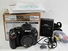 Nikon D5200 Digital Camera Body 9.7 of 10 Cndtn In Box w Battery Charger, Cables