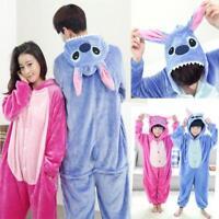Unisex Adult Kid Pajamas Kigurumi Cosplay Animal Sleepwear Shoes Stitch onesi