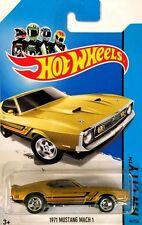 Hot Wheels 2014 - '71 Mustang Mach I (Gold) #94