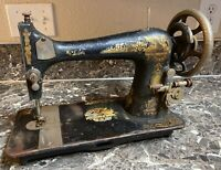 Singer Model 27 Sewing Machine Antique 1907 Sphinx Treadle Used