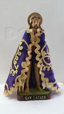 "San Lazaro Statue Saint con capita 9"" tall / bella imagen de san lazaro de 9"""