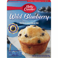 Betty Crocker Wild Blueberry Muffin & Quick Bread Mix 16.9 oz ( 2 boxes )
