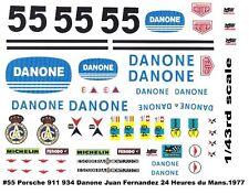 #55 JUAN FERNANDEZ Danone Porsche 911 1977 1/43rd Scale Slot Car Decals