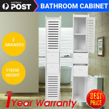 5-tier 118cm Bathroom Corner Shelf Toilet Cabinet Shower Cupboard Storage Rack