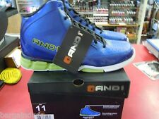 """New AND1 """"Blitz"""" Men's Basketball, Athletic Shoes Blue/Lime Size 11"""