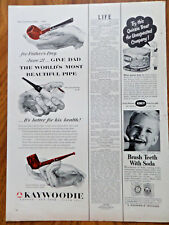 1952 Kaywoodie Pipes Ad For Father's Day It's Better for his Health