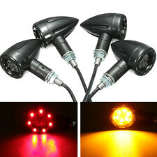 2 Pcs Universal Motorcycle LED Rear Turn Signal Brake Stop Safe Lights Glitzy