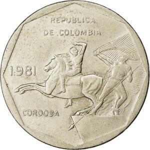 [#762233] Coin, Colombia, 10 Pesos, 1981, EF, Copper-Nickel-Zinc, KM:270