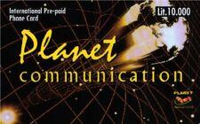 2591 SCHEDA TELEFONICA PHONECARD NUOVA G PC 1 PLANET COMMUNICATION