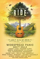 "Widespread Panic / Gov'T Mule ""Ride Festival"" 2015 Telluride Concert Tour Poster"