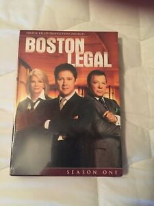 BOSTON LEGAL SEASON ONE DVD SET - NEW AND FACTORY SEALED IN PACKAGE
