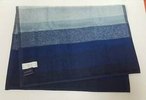 Set of 2 Pieces - Lands' End Supima Yarn Blue Dyed Striped Tweed Hand Towel