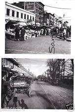 BRONX Arthur Av Belmont QUEENS Jamaica Av Flushing 2 PHOTOS c1930s NYC NY FreShp