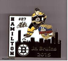 HOCKEY PEE-WEE PIN QUEBEC INTERNATIONAL BOSTON BRUINS 2015 DOUGIE HAMILTON #27