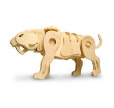 SOUND CONTROL SABER dente TIGRE 3D PUZZLE IN LEGNO KIT MODELLO IMBARCAZIONE giocattolo per bambini / adulti