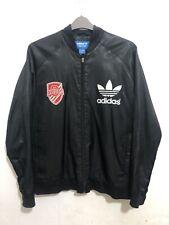 Mens Gents Vintage Adidas Jacket Black  Large