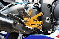 Rearsets Rear set Foot Pegs YAMAHA YZF R1 2015 2016 17 Foot Pegs Racing Use GOLD