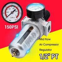Druckluft Wartungseinheit 1/2 Druckminderer Wasserabscheider Öler Filter 150 psi