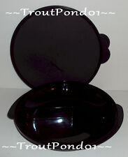 TUPPERWARE Divided Plate Black Microwave Reheatable Lunch Dish New