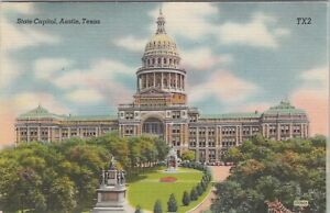 Linen postcard, The State Capitol Building, Austin, Texas