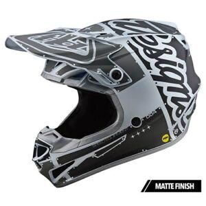 2020 Troy Lee Designs SE4 ECE Poly Factory Silver Helmet adults