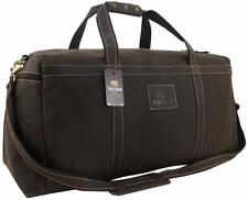 "28"" Yuge Bear Mens Vtg Genuine Leather Duffel Large Weekender Luggage Travel Bag"