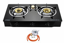 PS-3 Gas Stove 70cm Cooker 3 Burners Portable Hob Indoor Cooktop LPG 8.8kW NEW