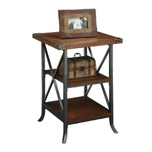 Convenience Concepts Brookline End Table, Dark Walnut - 111845DWN