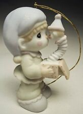 Precious Moments Ornament �God Sent You Just in Time� 3 Petal Flower Mark 1988