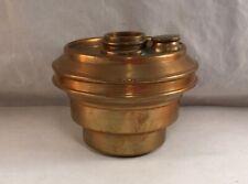 ANTIQUE BRASS RAILROAD BRACKET OIL LAMP FONT INSERT ADAMS & WESTLAKE 1867