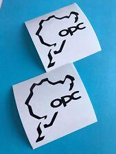 2x Opel Performance Nurburgring Aufkleber Car Window Sticker Vinil Decal 173