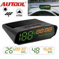AUTOOL X100S 12V Car GPS Solar Digital Meter Speedometer Speed Warning KMH/MPH