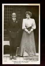 Royalty King of Spain and fiancee Princess Ena of Battenberg 1906 RP PPC
