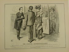 PUNCH cartoon 1903 /p228 THE COLONIAL MATRIMONIAL AGENT