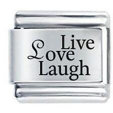 LIVE LOVE LAUGH - Daisy Charms by JSC Fits Classic Size Italian Charm Bracelet
