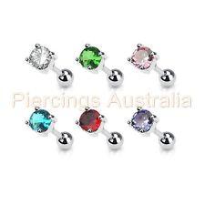16G Round CZ Tragus Cartilage Tragus Bar Piercing Stud Ear Ring Body Jewellery