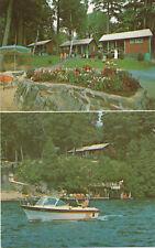 Smokey Bear Cottages - Lakeshore -Lake George, NY - Mobil Travel chrome postcard