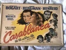 Casablanca Retro Metal Plaque/Sign, Pub, Bar , Kitchen, Home, Gift NEW