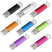 2X(32GB USB Speicherstick OTG Mikro USB Flash Drive Handy PC Blau O6N9) T4W