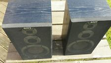 Vintage Sony SS-A701 3 Way Speakers 6 Ohms Impedance 120W Hi-Fi Stereo pair #2