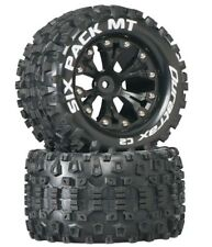 New Duratrax 2WD  Stampede Rustler Six Pack 2.8 Mounted Tires  Rear